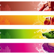 Music web banners - Stock Vector