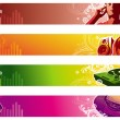 Stock Vector: Music web banners