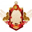 Royalty-Free Stock Векторное изображение: Musical heraldry  with loudspeakers