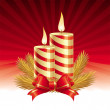 Royalty-Free Stock Vector Image: Two christmas candles