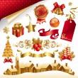 wektor świątecznych symboli i obiektów — Wektor stockowy