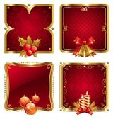 Holidays luxury golden frames — Stock Vector