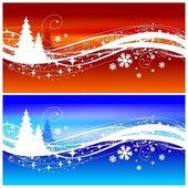 Winter wave — Stock Vector
