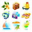 Rest and travel vector set — Stock Vector #2554949