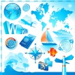 World & travel set - Stock Vector