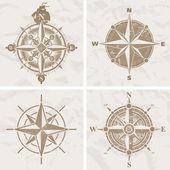 Vintage compass roses — Stock Vector