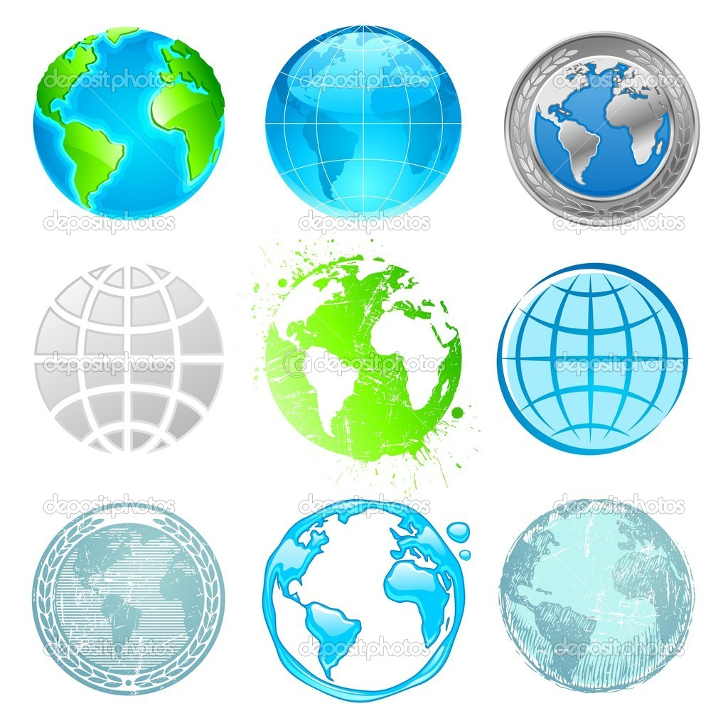 Globe and Earth vector set  Stock Vector #2554929