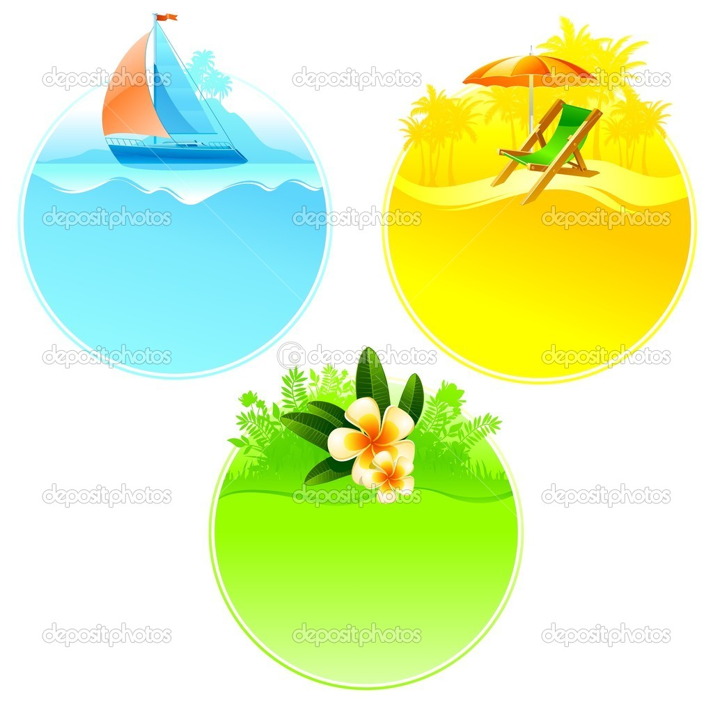 Rest and travel round frame — Stock Vector #2554936