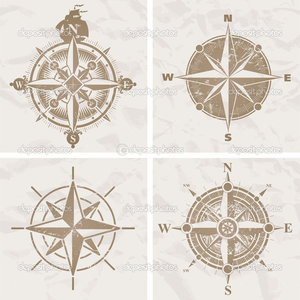 Vintage compass roses — Stock Vector #2555013