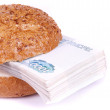 Financial sandwich - Stock Photo