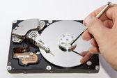 Compuder hard disc — Stock Photo