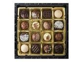 Box of assorted chocolates — Stock Photo