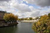 Paris from the Seine river — Stock Photo