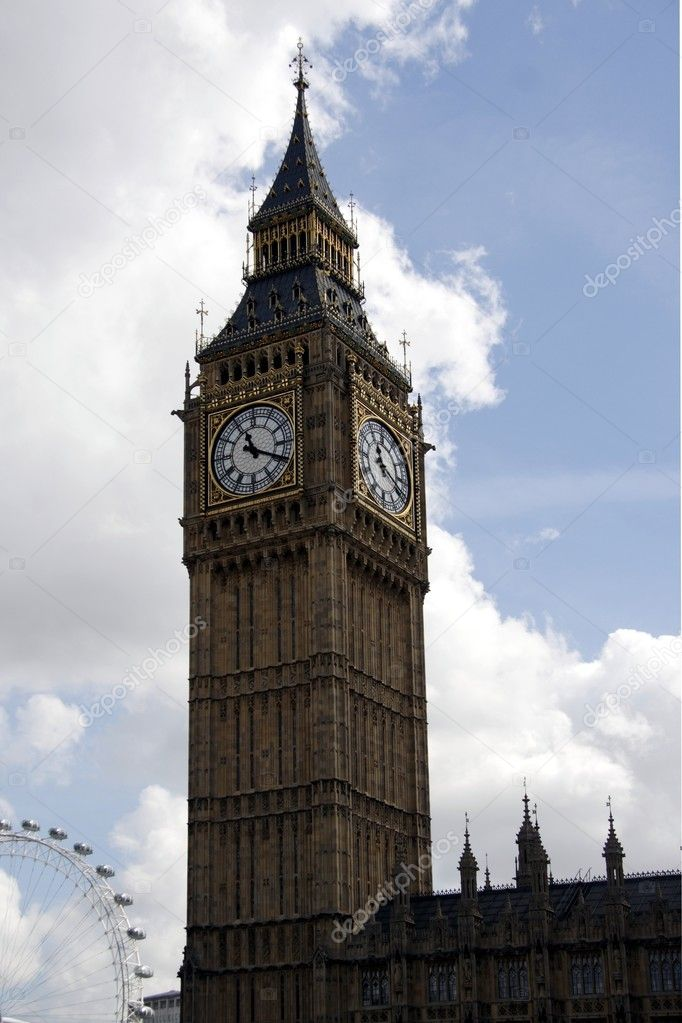 Big Ben tower in London — Stock Photo #2190443