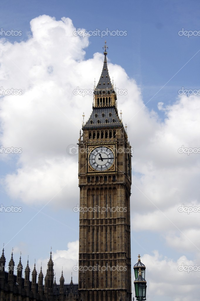 Big Ben tower in London  Stock Photo #2190466