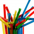 Colorful straws in a cup - Stock Photo