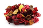 Colorful dry leaves and flowers — Stock Photo