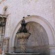 Fountain, Stradun, Dubrovnik. — Stock Photo