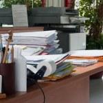 Office desktop folders — Stock Photo