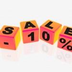 Sale -10% — Stock Photo