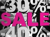Sale magenta — Stock Photo