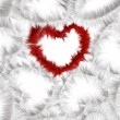 Stock Photo: Red and white hearts