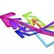 Colorful arrows — Stock Photo