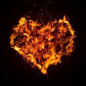 Abstract fiery heart — Stock Photo