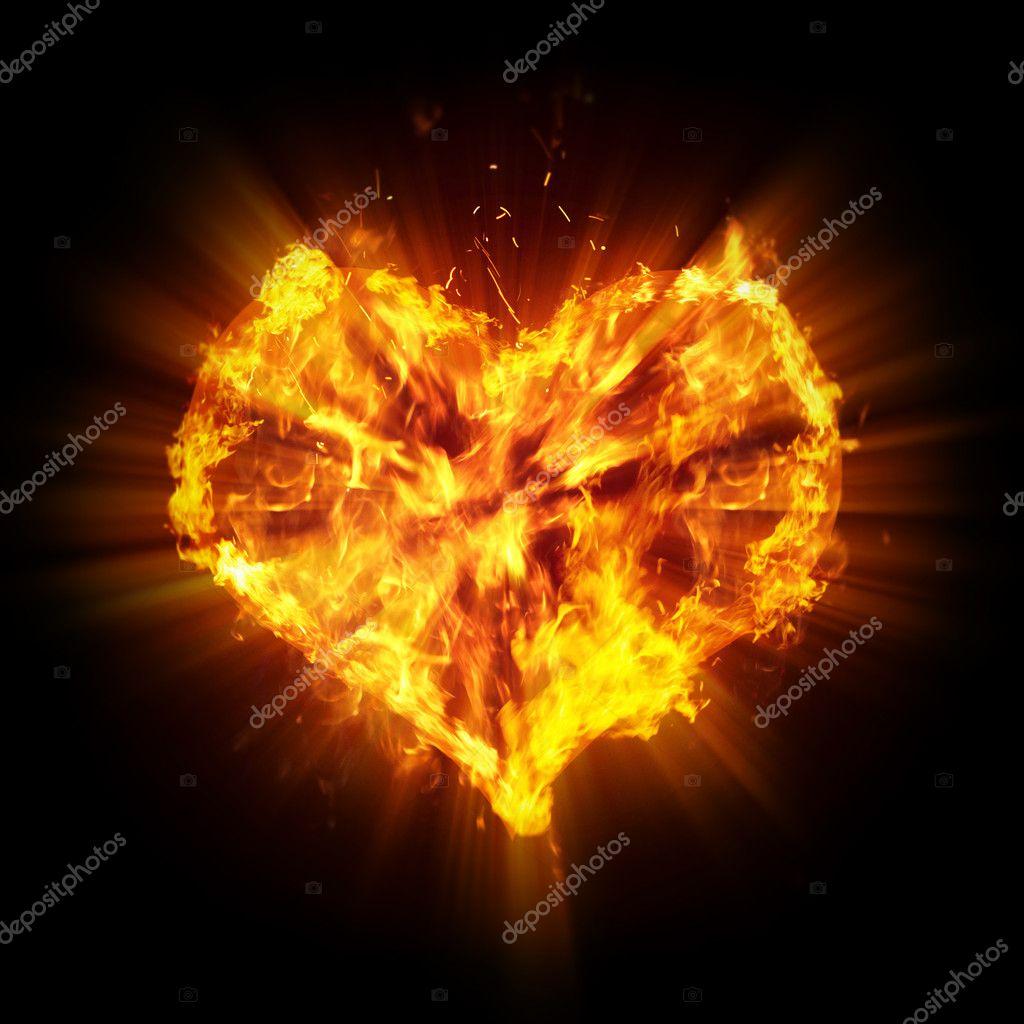 Как сделать сердце что она горела 794