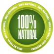 100% Natural vector button — Stock Vector