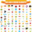 Vector logo & design elements. - Vettoriali Stock