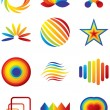 Colorful vector symbols — Stock Vector