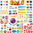 Royalty-Free Stock Imagen vectorial: Collection of 100+ elements
