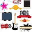 Collection of design elements - Stock Vector
