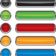 Colorful vector buttons for web design - Stock Vector
