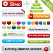 Vector business buttons mega-pack — Vettoriale Stock #1809735