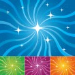 Stock Vector: Starburst vector backgrounds