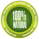 """100% Natural"" vector button — Stock Vector"