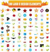 Logotipo do vetor e elementos de design. — Vetorial Stock