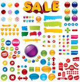 Collezione di oltre 100 elementi — Vettoriale Stock