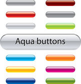 Aqua vector buttons for web design — Vettoriale Stock