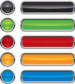 Pulsanti colorati vettoriale per il web design — Vettoriale Stock