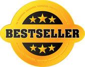 """Vector """"Bestseller"""" label — Stock Vector"""