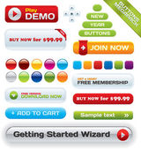 Vector business buttons mega-pack — Vettoriale Stock