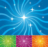Starburst vector backgrounds — Stock Vector