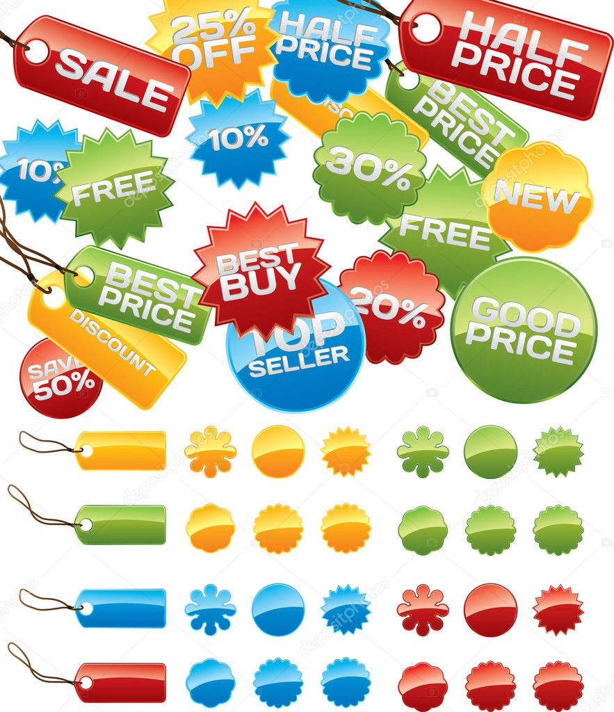 Vector business badges mega-pack. You can use it for your online shop, business website, blog, artwork. You can edit any button as you like. — Stock Vector #1809502
