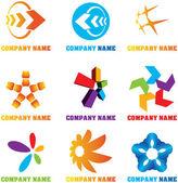 Kleurrijke vector symbolen en logo 's — Stockvector