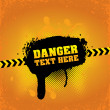 Danger banner - Stock Vector