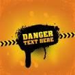 Stock Vector: Danger banner