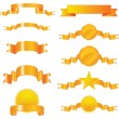 Collection of gold ribbons — Stockvector #1826475